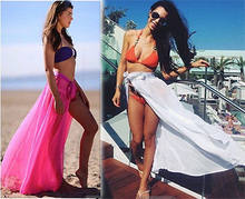 Sexy beach cover up women sarong summer bikini cover-ups wrap pareo beach dress skirts towel(China)