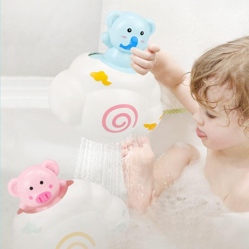 Kids Water Spraying Bath Shower Fun Educational Cartoon Pattern Toys Children Bathroom Play