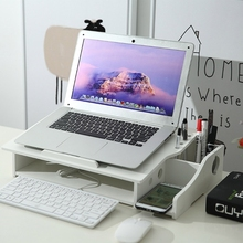 Multi-function Desktop Storage Rack Organizer Laptop Support Notebook Stand Holder Computer Screen Riser Shelf