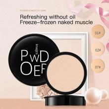 Пудра длительного действия для макияжа лица с полным покрытием, основа для макияжа, компактная пудра, компактная пудра, натуральная пудра д...