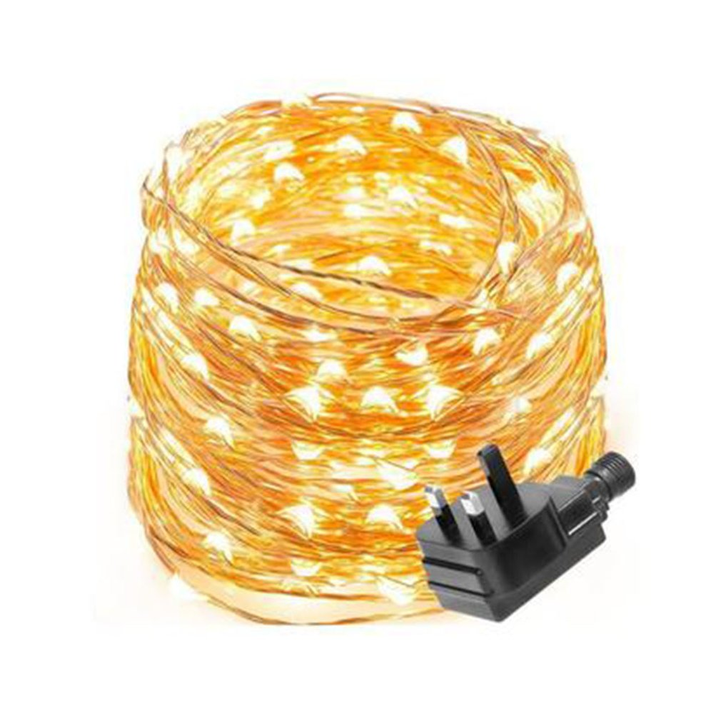 Led Copper String Light String Christmas Wedding Lantern String British Standard Transformer Copper Wire String