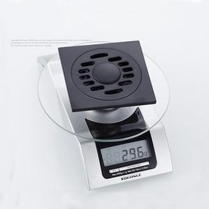 Image 5 - シャワー排水平方風呂ストレーナー髪アンティークブラスブラック浴室床ドレングリッド廃格子洗濯機の排水カバー