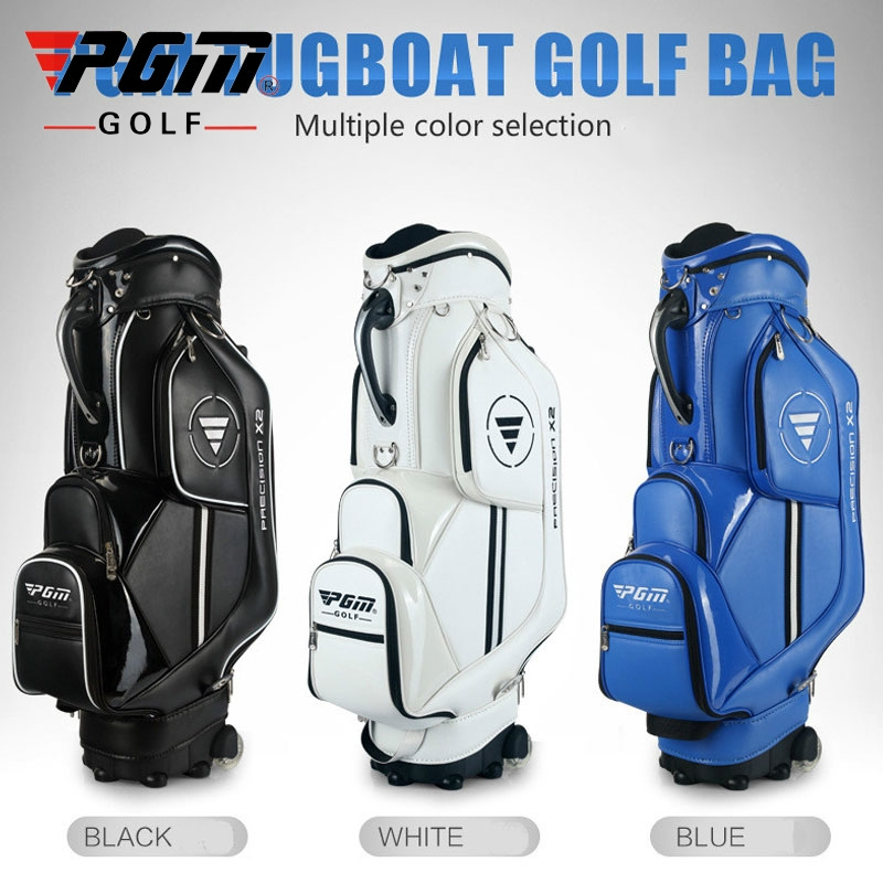 Pgm Golf Aviation Bag Portable Pu Leather Golf Standard Bag Golf Large Capacity Travel Package With Wheels A7033