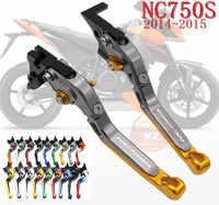 Palancas de embrague de freno de motocicleta plegables extensibles CNC para HONDA NC750 NC750S NC750X NC 750 S/2014-2015