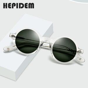 Image 2 - HEPIDEM אצטט בציר מקוטב משקפי שמש גברים גרגורי פק מותג עיצוב ברור עגול משקפיים שמש לנשים רטרו גווני ZOLMAN