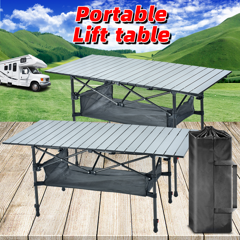 Foldable Camping Table Portable Folding Table Camping Kitchen Table Folding Table Camping Lift Table Portable Desk Outdoor Table