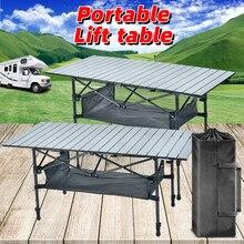 Table de Camping pliable Table pliante portative Table de cuisine de Camping Table pliante Table élévatrice de Camping Table extérieure de bureau Portable