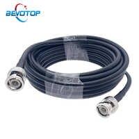 Conector Coaxial BNC macho a BNC RG58, Cable RF de 50 Ohm, doble enchufe BNC, Cable de Cable macho de 0,5 M, 1M, 2M, 5M, 10M, 20M