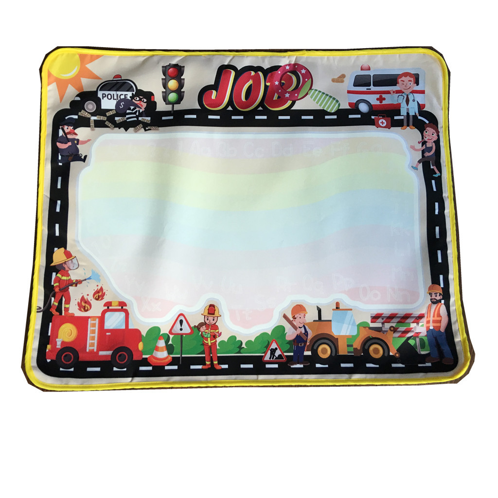 Children'S Educational Toy Small Magic City Traffic Water Canvas Doing Homework Blanket Graffiti 68 X 55cm About 110 Grams