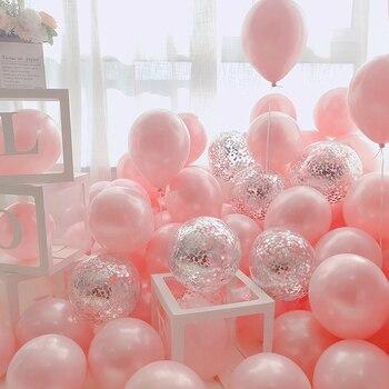 18 Uds. Globos de látex de Metal dorado, plateado y Rosa de 10 pulgadas, decoración de bodas, Globos de helio mate, decoración de fiesta de cumpleaños para adultos