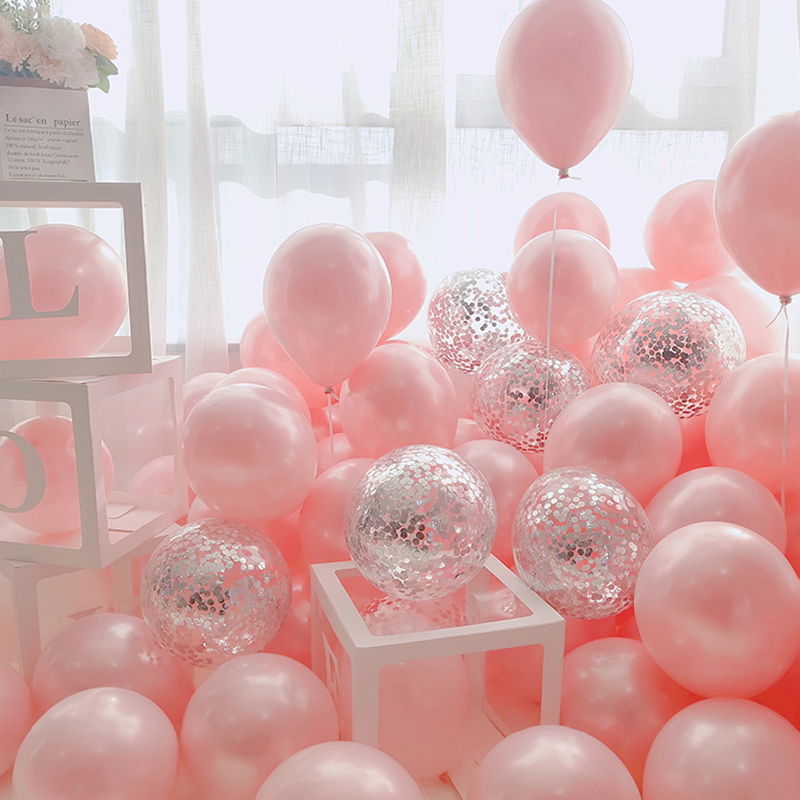 18pcs 10inch Gold Silver Pink Metal Latex Balloons Wedding Decoration Matte Helium Globos Birthday Party Decoration Adult