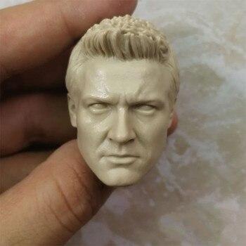 Blank Hot 1/6 Scale Hawkeye Jeremy Renner Head Sculpt Unpainted