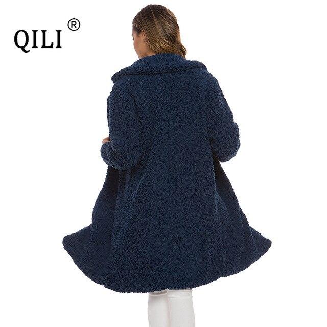 Фото qili женская осенняя и зимняя хлопковая куртка кардиган с длинным