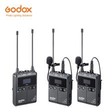 Transmisor Godox WMicS1 con RECEPTOR UHF sistema con micrófono inalámbrico sin preocupaciones inalámbrico hasta 100m para Sony Nikon Canon DSLR