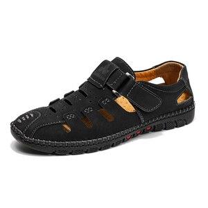 Image 3 - Tamanho grande 38 48 moda masculina sandálias de praia verão respirável sapatos de caminhada casuais ao ar livre masculino zapatos de hombre
