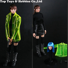 IN stock LACKBOX 1/6 Blade Runner Virtual Women Set BBT9010 Figure Cloth W 2 heads For 12 Female seamless mid bust S18A Body