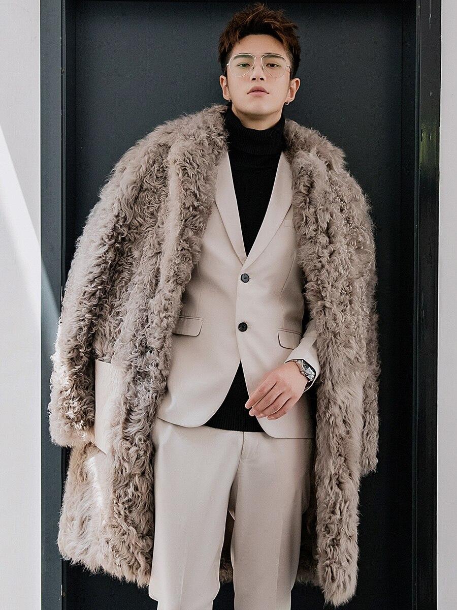 Real Fur Coat Men Sheep Shearling Winter Jacket Men Long Wool Fur Coats And Jackets Natural Lamb Fur 2020 19343 KJ3315