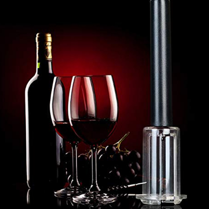 Cordless Red Wine Opener Air Pressure Stainless Steel Pin Type Pumps Bottle Corkscrew Cork Out Tool Remover Openers Portable