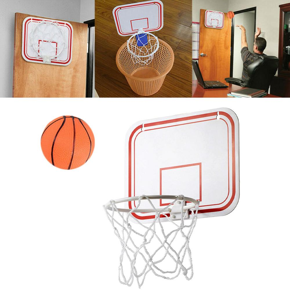 Ударопрочный задний картон для помещения, мини-спортивный пуансон, игрушка, подвесные Настенные Детские баскетбольные кольца, набор сетчат...