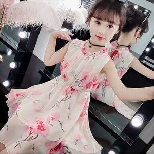 Girls Summer Dress  New  Chiffon Children Super Princess Dress Children's Clothing Dress Girl 4-12 Ages  Kids Dresses for Girls