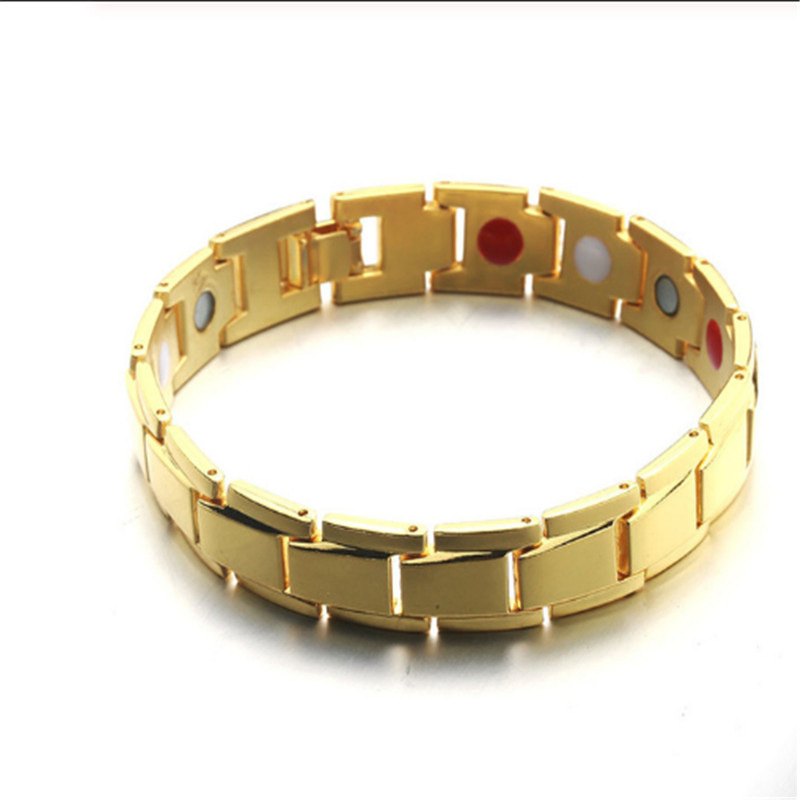 European American Men's Healing Magnetic Hematite Copper Bracelet Healthy Energy Treatment Magnet Bracelet Men Health Jewelry