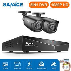 SANNCE 4CH DVR Sistema de CFTV 2 PCS/4 PCS 2MP TVI CCTV Segurança Ao Ar Livre IR Câmeras 1080P HDMI DVR Kit de Vigilância 1280TVL
