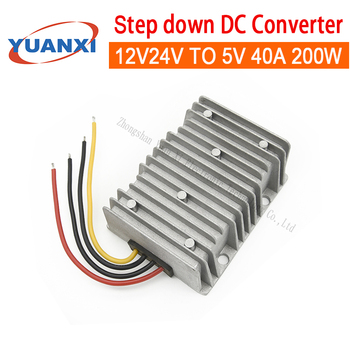 200W Step down DC converter 12V 24V TO 5V 40A dc