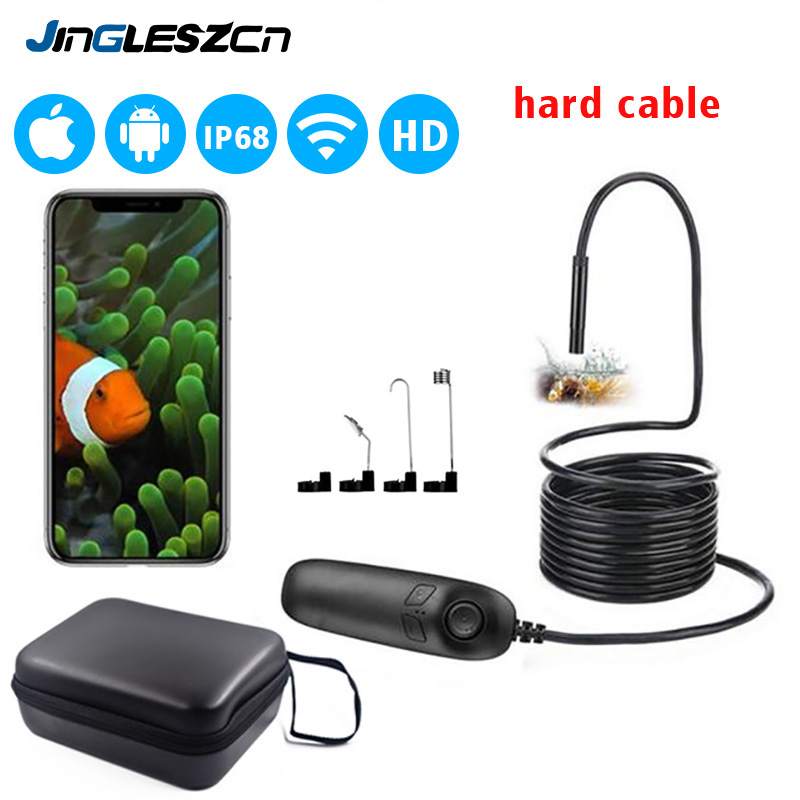 1200P Telescoping Wifi Endoscope Inspection Camera IP68 Waterproof 2.0MP Endoscope HD Snake Camera With 8 LED For IOS Android