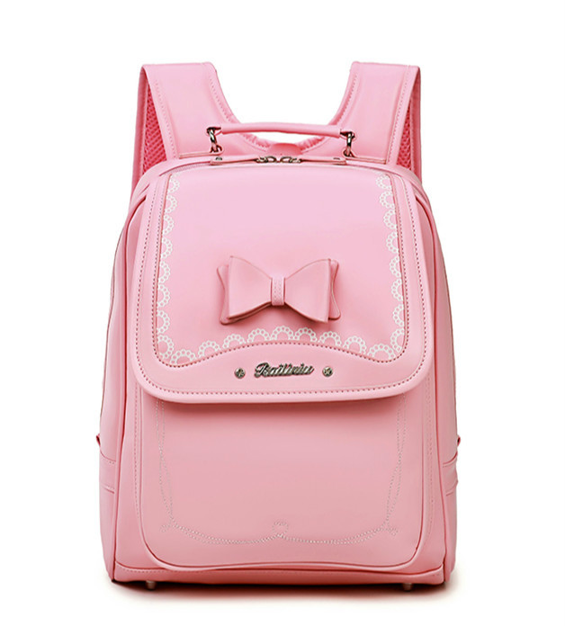 2019 Hot Grils School Bags Pink Leather Children's Orthopedic Backpack Fashion Randoseru Mochila Infantil Bolsas Primary 1-5