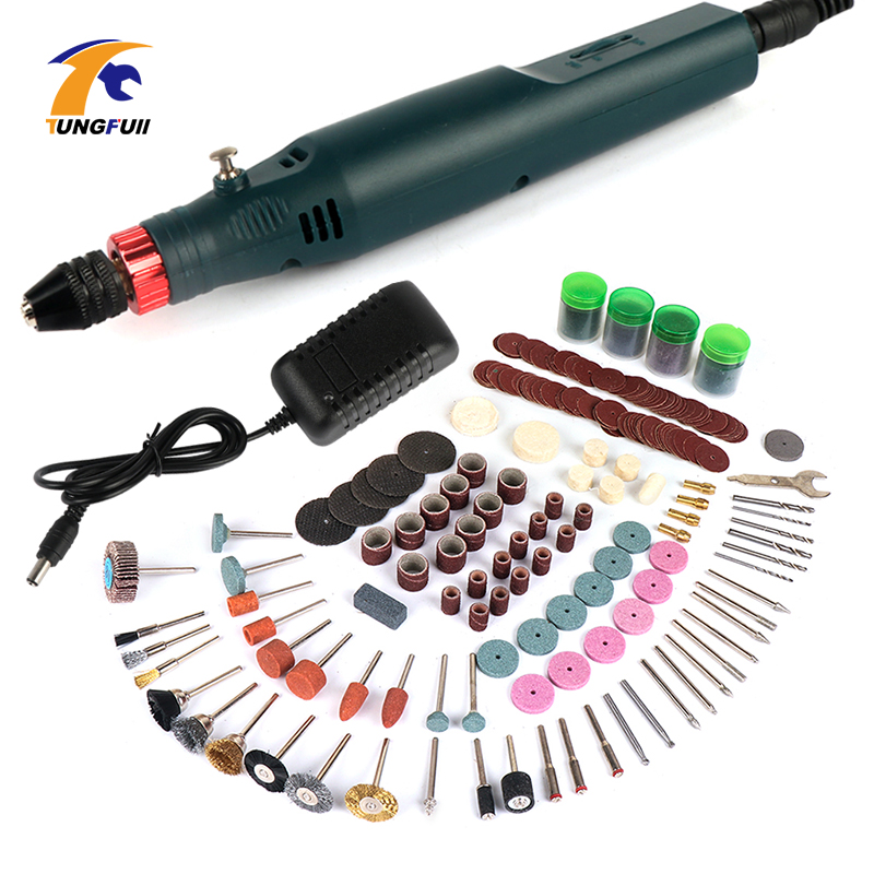 Mini Electric Drill Power Tools Drill Grinder Grinding Accessories Set Hand-held Drilling Machine Mini Drill Engraver