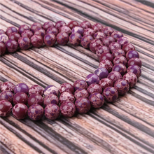 Hot Sale Natural Stone Purple Emperor 15.5 PicBlue Peacockk Size 4/6/8/10/12mm fit Diy Charms Beads Jewelry Making Accessories