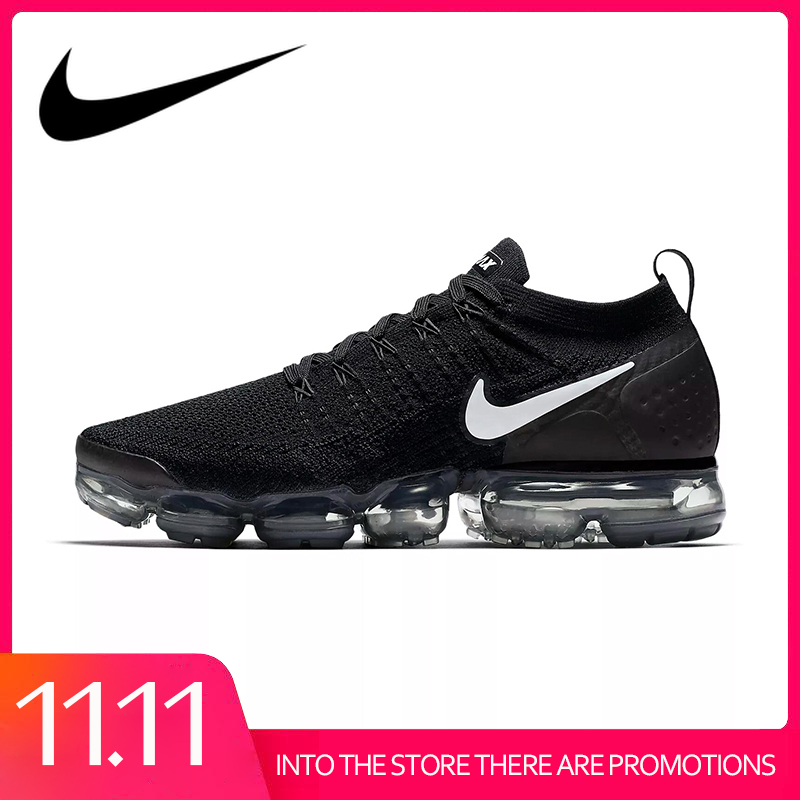 Original Authentic NIKE AIR VAPORMAX FLYKNIT 2.0 Men's Running Shoes Classic Outdoor Sports Shoes Mesh Breathable 942842-001