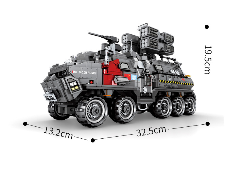 Nowy MOC wojskowe CN171 wojsk przewoźnika pasuje do Legoings Technic miasto Swat Tank klocki klocki Model zabawki dla dzieci prezent urodzinowy w Klocki od Zabawki i hobby na  Grupa 3