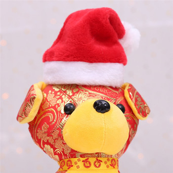 Kerst Navidad 2020 Noel Pet Dog Cat Santa Claus Hat Christmas Decoration Ornaments New Year 2021 for Dogs Costume Accessories image
