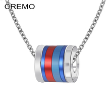 Cremo Red Pendants Stackable Titanium Steel Fashion Trendy Women Original Summer Layers Necklaces Valentines day Gift