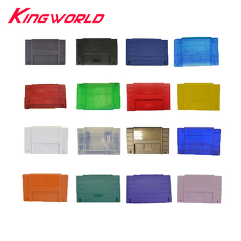 100pcs US Version 16bit Game Cartridge Replacement Plastic Card Shell For SNES Game Console With Screw
