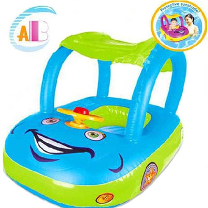 Summer Baby Kids Cartoon Float Seat Car Boat Swimming Inflatable Children Rubber PVC Circles Safety Pool Inflatable Ride-ons