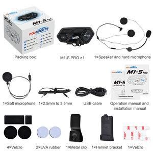 Image 5 - הכי חדש Fodsports M1 S פרו אופנוע אינטרקום 8 רוכבים קסדת אוזניות Bluetooth Bluetooth האינטרפון להתחבר BT S2 V6 TCOM SC