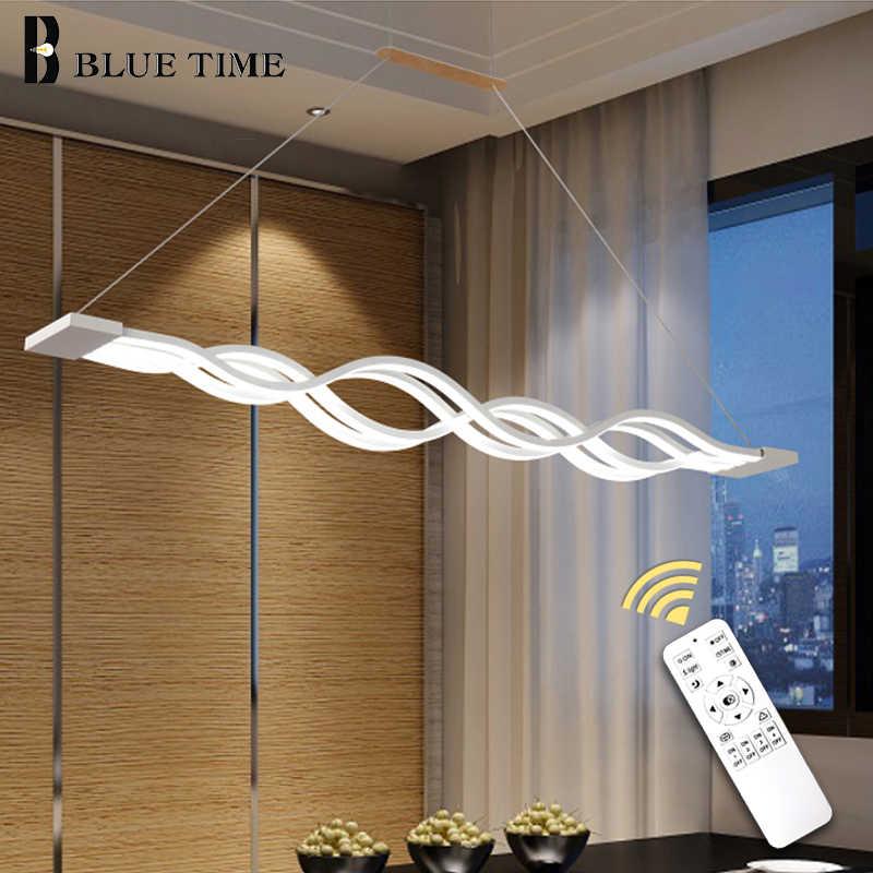 100 センチメートル調光可能 Reomte 現代のシャンデリアダイニングルーム寝室玄関装飾 AC110V 220V Led シャンデリア