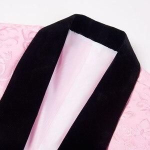 Image 2 - Pytrl 남자 클래식 목도리 옷깃 2 조각 웨딩 신랑 자카드 턱시도 핑크 옐로우 블랙 레드 퓨어 화이트 슬림 피트 자켓과 조끼