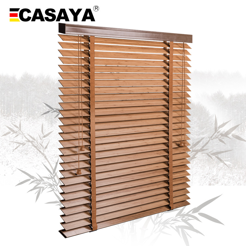 50mm Bamboo Blinds Ladder type venetian blinds eco frienly Natural Material window Bamboo blinds for home Living room Tea houseBlinds, Shades & Shutters   -