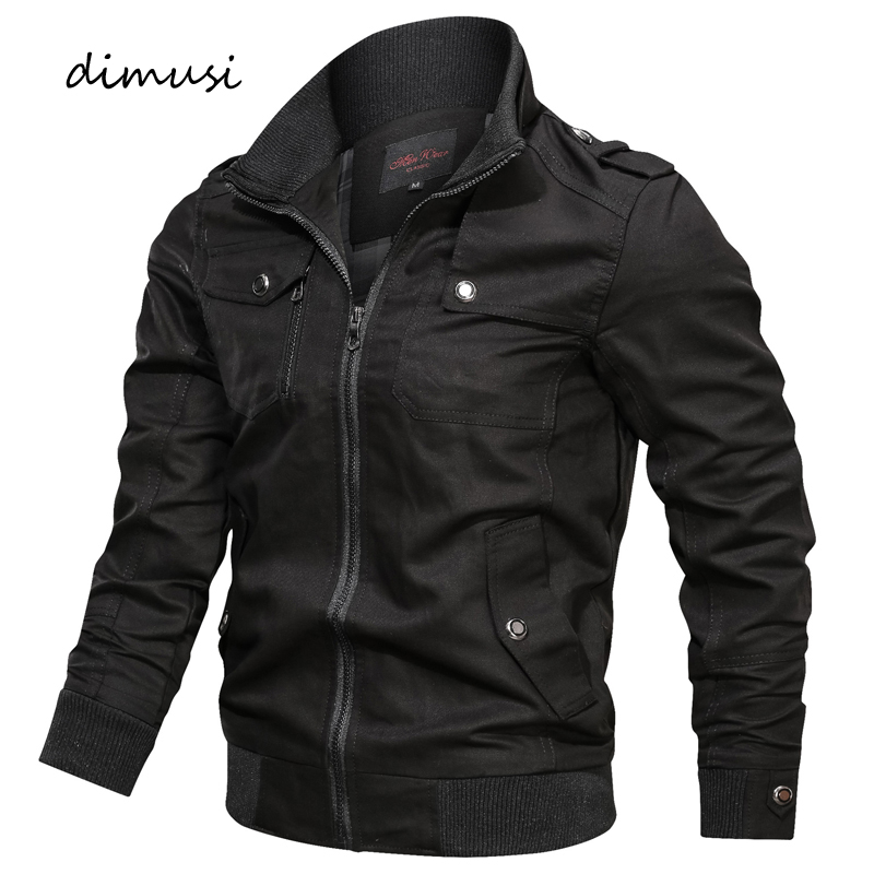 DIMUSI Autumn Mens Bomber Jackets Casual Male Army Military Jackets Mens Cotton Slim Outwear Windbreaker Baseball Coats Clothing