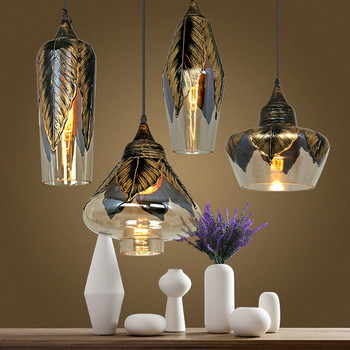 Modern Glass LED Pendant Lights Loft Industrial Hang Lamp for Living Room Kitchen Luminaire Suspension Home Decor Light Fixtures vintage led ceiling lights rope hang lamp for home living room nordic bar lighting ceiling fixtures industrial decor luminaire