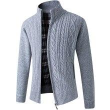 2020 新メンズセーター秋冬暖かいカシミヤウールジッパーカーディガンセーター男カジュアルニットsweatercoat男性服