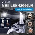 HLXG новые 1:1 Размеры H7 Мини светодиодный фар H11 H4 Автомобильная лампочка Беспроводной 9005 9006 HB3 HB4 H8 6000K белый авто противотуманные фары