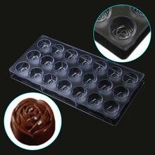 Бесплатная доставка 3d Поликарбонат форма розы Форма для шоколада