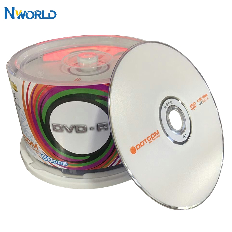 50 lot DVD Drives Blank DVD-R CD Disks 4 7GB 16X Bluray Recordable Media Compact Write Once Data Storage Empty DVD Discs Lotes