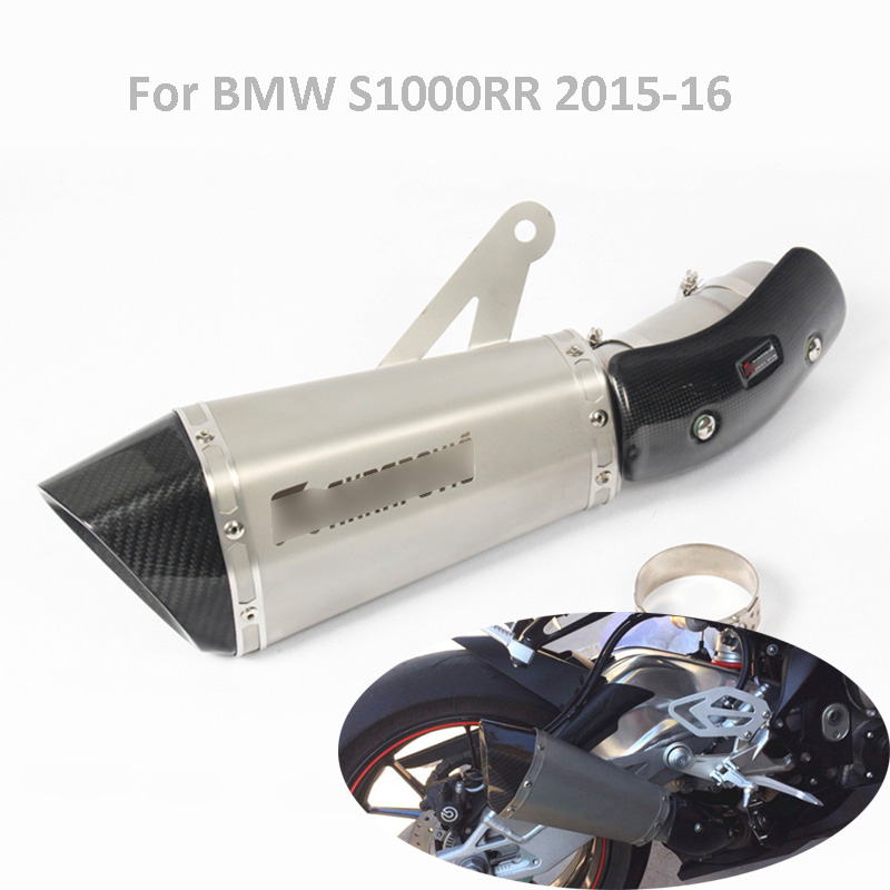 Motorcycle Exhaust System Muffler Silencer Escape Tail Tip Pipe Exhaust System Slip on S1000RR Pipe for BMW S1000RR 2015 2016 image