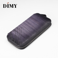 Dimy2019 leather long zipper wallet men's business men's handbag large capacity multi function youth wallet