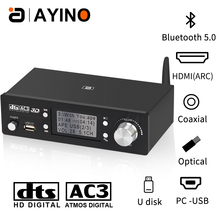 HD920 5.1CH Audio Decoder Bluetooth 5.0 Reciever DAC DTS AC3 Dolby Atmos 4K HDMI Extractor Converter SPDIF ARC PCUSB Sound Card